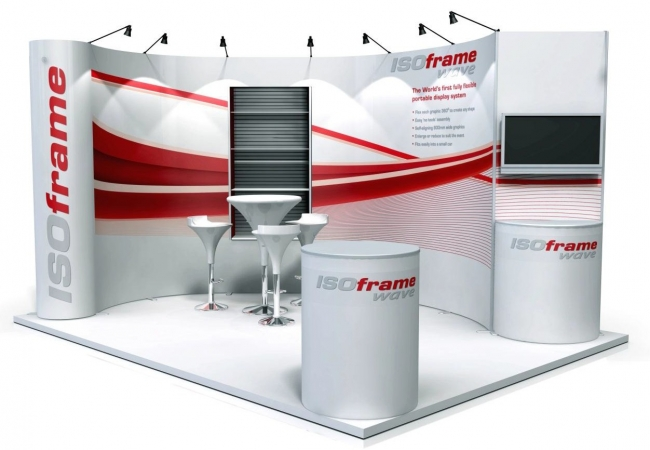 Exhibition Stand Systems : Isoframe wave display stands and system from duo gb ltd