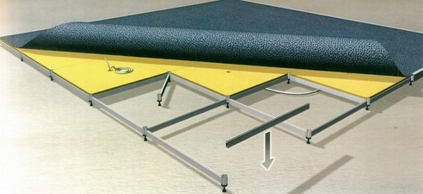 Exploded view of the Duo 6 (D6) Technical Flooring System