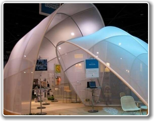 Tension Fabric Structures for Exhibitions Gallery