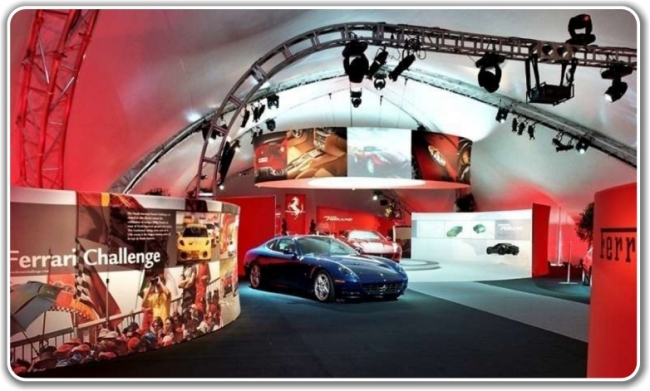 Fabric Structures for Exhibition Stands