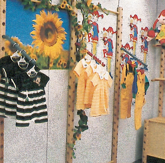 Displaying children's clothes