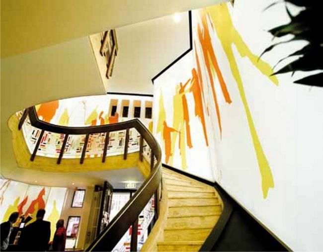 Stairwell with Clipso graphics