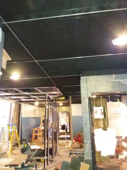 Black Smoke Out ceiling for the Nelson Mandela Exhibition 2019