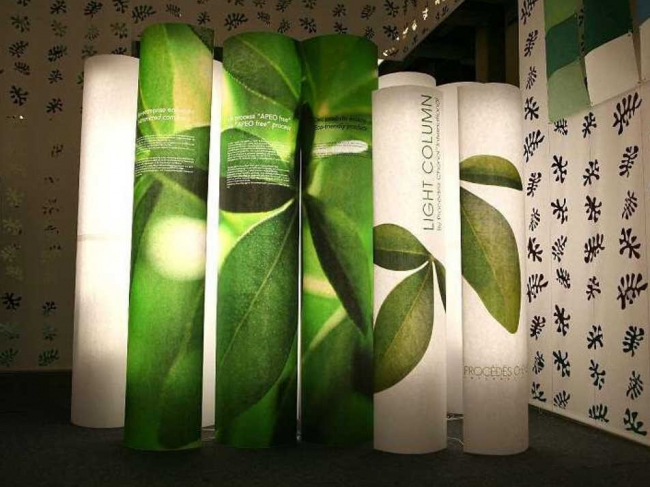 Printed paper lighted columns