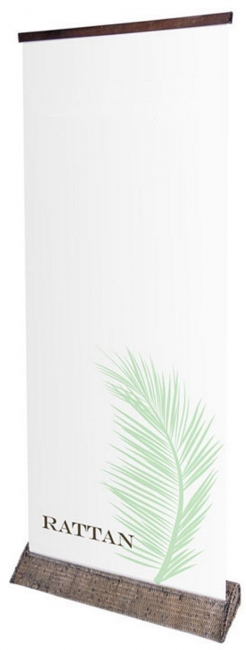 Rattan Pull Up Banner