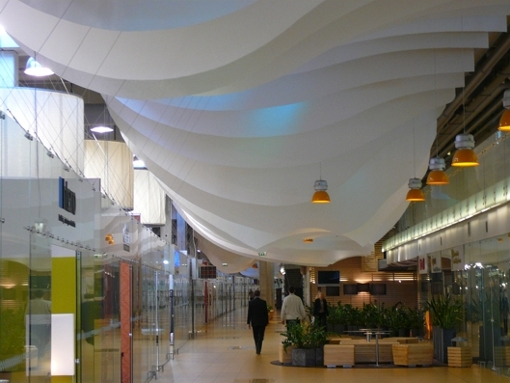 Large-scale ceiling displays