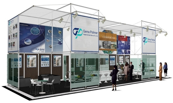 Duo 4 modular exhibition stand