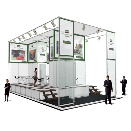 Exhibition Display System : Reusable modular exhibition display stands portable