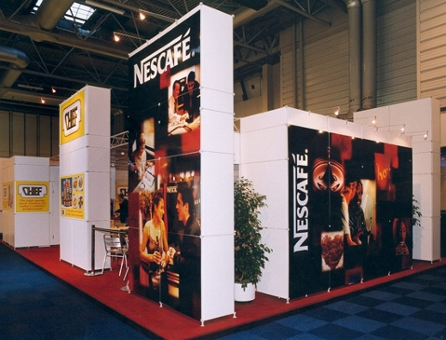 Create cost effective walls of graphics with exhibition panel hire from Duo GB Ltd