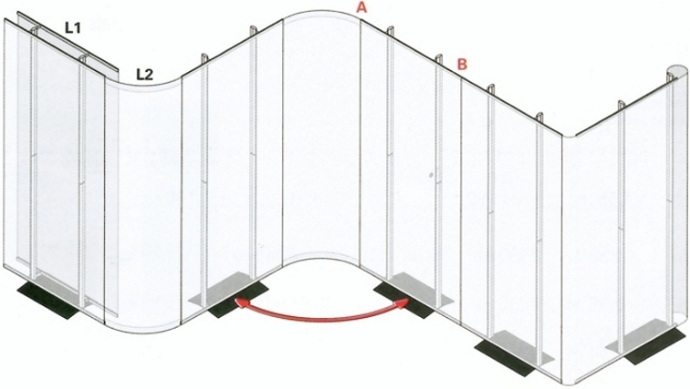 How the panels link together on the Rapido Twin Display System