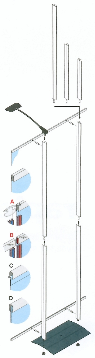 Portable Display Systems - Rapido - Panel Linkage