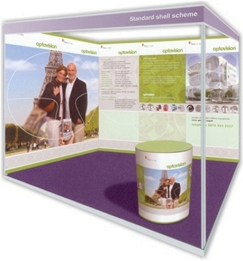 Exhibition Shell Hire : Shell clad display system for seamless graphics on